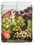 Snail With Grapes And Pears Duvet Cover by Giovanna Garzoni