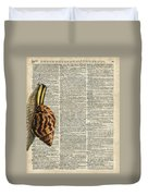 Snail Worm On Dictionary Page Duvet Cover