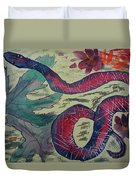 Snake In The Garden Duvet Cover