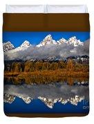 Snake River Fall Reflections Duvet Cover