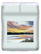 Snake River Sunset Duvet Cover