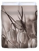 Snake's Head Fritillary  Duvet Cover