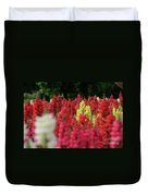 Snap Dragon Flowers Duvet Cover by Tracy Hall