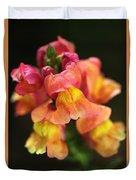 Snapdragon Flowers Duvet Cover