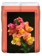 Snapdragon Flowers With Design Duvet Cover
