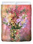 Snapdragons In Snapdragon Vase Duvet Cover