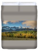 Sneffls Range Panorama From County Road 5  Duvet Cover