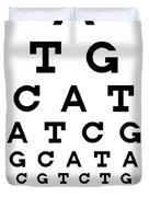 Snellen Chart - Genetic Sequence Duvet Cover