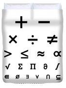 Snellen Chart - Mathematical Symbols Duvet Cover