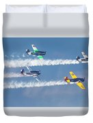 Snj Texan T-6 Areobatic Smoke On Duvet Cover