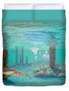 Snook Painting Duvet Cover