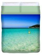 Snorkeling At Karon Beach Duvet Cover