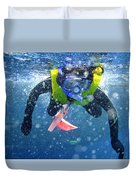 Snorkeling At The Great Barrier Reef Duvet Cover