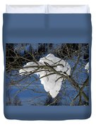 Snow And Africa Duvet Cover
