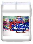 Snow And Graffiti Duvet Cover
