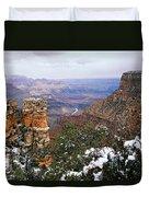 Snow And Pillar - Grand Canyon Duvet Cover