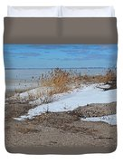 Snow And Sand Duvet Cover