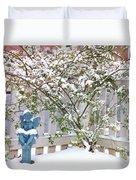 Snow Angel Duvet Cover