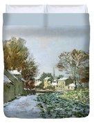 Snow At Argenteuil Duvet Cover by Claude Monet