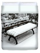 Snow Bench Duvet Cover