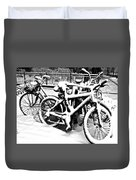 Snow Bicycles Duvet Cover