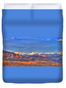 Snow-capped Panorama Of The Rockies Duvet Cover