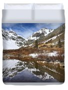 Snow-capped Refections Duvet Cover
