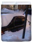 Snow Car Duvet Cover