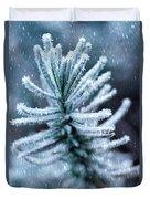 Snow Cover Pine Duvet Cover