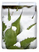 Snow Covered Agave Duvet Cover