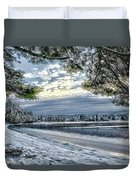 Snow Covered Pines Duvet Cover