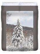 Snow Covered Spruce Duvet Cover