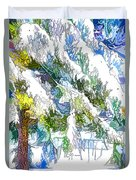Snow-covered Tree Branch  3 Duvet Cover