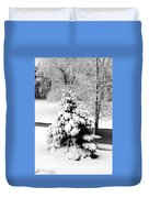 Snow Covered Trees Duvet Cover