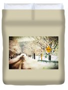 Snow-covered Trees Duvet Cover