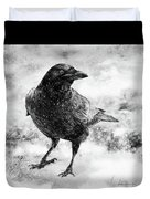 To Know A Crow Duvet Cover
