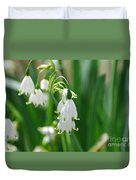 Snow Drop Lily Duvet Cover