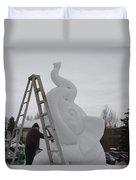 Snow Elephant Duvet Cover
