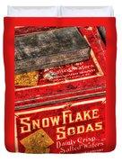 Snow Flake Sodas 767 Duvet Cover