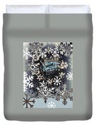 Snow Flakery Wreath 1 Duvet Cover