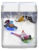 Snow Fun Duvet Cover