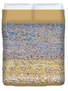 Snow Geese Take Off 3 Duvet Cover