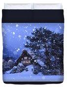 Snow, Historic Villages Of Shirakawa, Japan Duvet Cover