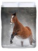 Snow Horse Duvet Cover