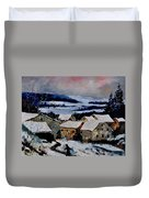 Snow In Ardennes 79 Duvet Cover