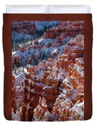 Snow In Bryce Canyon Duvet Cover