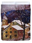 Snow In Chassepierre  Duvet Cover