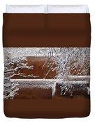 Snow In Santa Fe New Mexico Duvet Cover