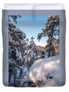 Snow In Saxon Switzerland Duvet Cover