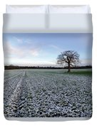 Snow In Surrey Countryside Duvet Cover